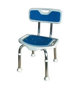 Siège douche réglable avec dossier Blue Seat