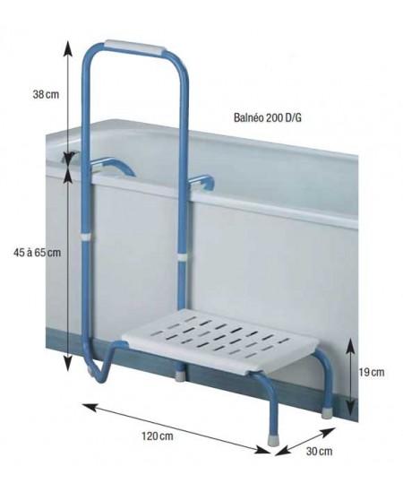 Poign e de bain marche pied balneo 200 for Poignee de securite salle de bain