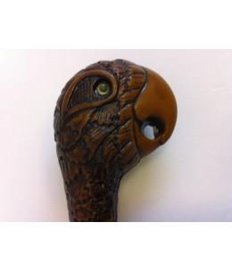 Canne tête de perroquet bambou