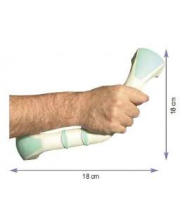 Barre d'appui coudée 33 cm