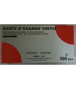 Gants d'examen en vinyle poudrés