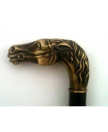 Canne de marche tête de cheval