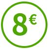 Huit euros offerts